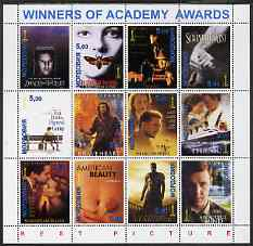 Mordovia Republic 2001 Academy Awards - Best Pictures 1990-2001 perf sheetlet containing set of 12 values unmounted mint