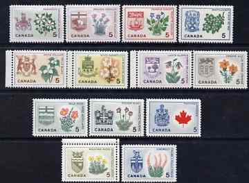 Canada 1964 Provincial Emblems perf set of 13 unmounted mint, SG 543-55