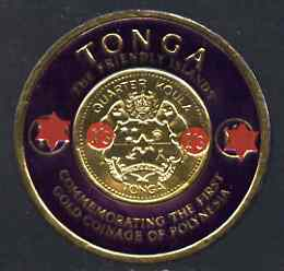 Tonga 1963 Surcharged 1s3d on 1s6d Gold Coin unmounted mint SG 151