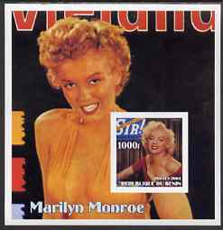 Benin 2003 Marilyn Monroe #5 imperf m/sheet (Cover of Sir) unmounted mint, stamps on movies, stamps on films, stamps on cinema, stamps on women, stamps on marilyn monroe, stamps on