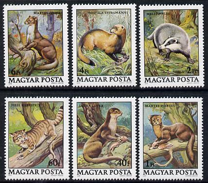 Hungary 1979 Protected Animals set of 6 (Pine Martin, Pole Cat, Badger) unmounted mint SG 3274-79