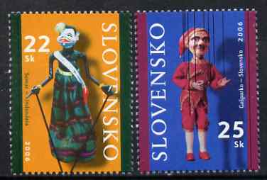 Slovakia 2006 Puppets perf set of 2 unmounted mint