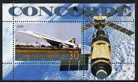 Udmurtia Republic 2006 Concorde & Space perf m/sheet #2 unmounted mint