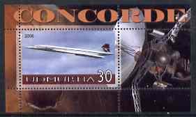 Udmurtia Republic 2006 Concorde & Space perf m/sheet #3 unmounted mint