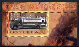 Udmurtia Republic 2006 Fire Engines perf m/sheet #2 unmounted mint