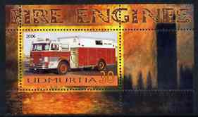 Udmurtia Republic 2006 Fire Engines perf m/sheet #4 unmounted mint