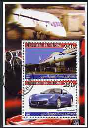 Djibouti 2006 Concorde & Ferrari 612 Scaglietti perf sheetlet containing 2 values cto used