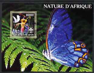 Benin 2006 Nature of Africa - Orchid & Butterfly (with Scout Logo) perf m/sheet cto used