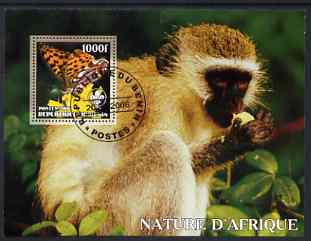 Benin 2006 Nature of Africa - Monkey & Butterfly (with Scout Logo) perf m/sheet cto used