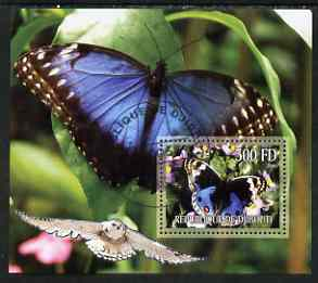 Djibouti 2006 Owl & Butterfly #1 perf m/sheet cto used