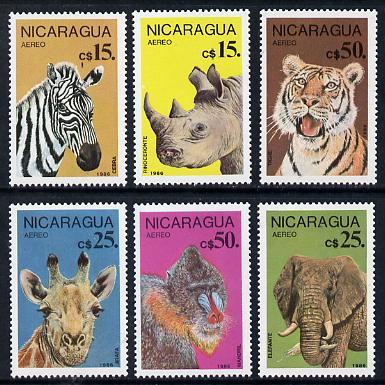 Nicaragua 1986 Endangered Animals set of 6 unmounted mint, SG 2799-2804
