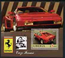 Liberia 2006 Enzo Ferrari #3 perf m/sheet cto used