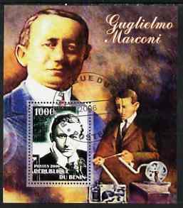 Benin 2006 Guglielmo Marconi #1 perf m/sheet cto used