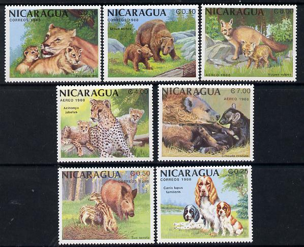 Nicaragua 1988 African Animals set of 7 unmounted mint, SG 2955-61