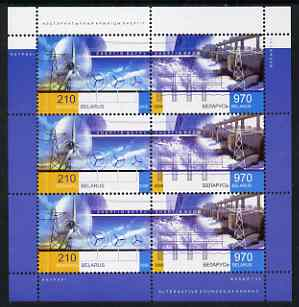 Belarus 2006 Energy from Nature perf m/sheet containing 3 x sets of 2 values unmounted mint