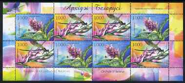 Belarus 2006 Orchids perf m/sheet containing 4 x sets of 2 values unmounted mint