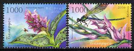 Belarus 2006 Orchids perf set of 2 values unmounted mint