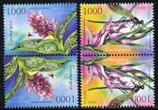 Belarus 2006 Orchids perf set of 2 values each in tete-beche pairs unmounted mint