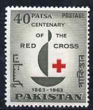 Pakistan 1963 Red Cross Centenary unmounted mint, SG 187