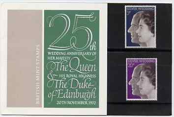 Great Britain 1972 Royal Silver Wedding set of 2 in official presentation pack