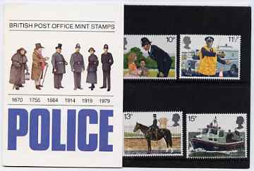 Great Britain 1979 Metropolitan Police 150th Anniversary set of 4 in official presentation pack