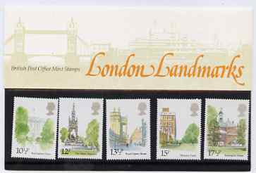 Great Britain 1980 London Landmarks set of 5 in official presentation pack