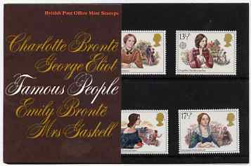 Great Britain 1980 Famous Authoresses set of 4 in official presentation pack