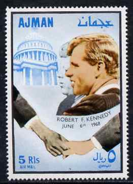 Ajman 1968 Fighters for Human Rights perf 5R Robert Kennedy unmounted mint, Mi 300
