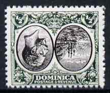 Dominica 1923-33 KG5 Badge 1/2d black & green with centre inverted being a 'Hialeah' forgery on gummed paper (as SG 71var)
