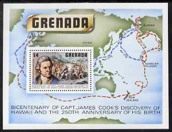 Grenada 1978 Birth Anniversary of Capt Cook perf m/sheet unmounted mint, SG MS974