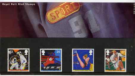 Great Britain 1991 World Student Games & Rugby Cup set of 4 in official presentation pack