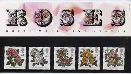Great Britain 1991 World Congress of Roses set of 5 in official presentation pack
