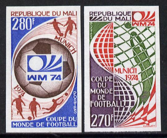 Mali 1974 Football World cup imperf set of 2 unmounted mint, SG 436-37