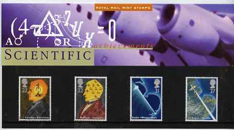 Great Britain 1991 Scientific Achievements perf set of 4 in official presentation pack
