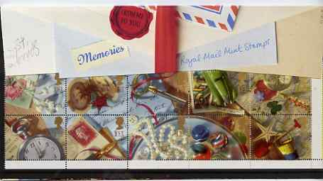Booklet Pane - Great Britain 1992 Greeting Stamps (Memories) unmounted mint booklet pane of 10 in official presentation pack