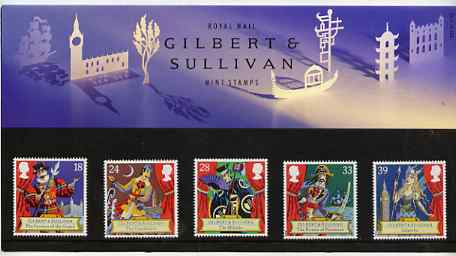Great Britain 1992 Gilbert & Sullivan Operas set of 5 in official presentation pack