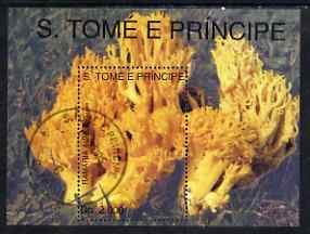 St Thomas & Prince Islands 1993 Fungi (Ramaria aurea) perf m/sheet very fine cto used
