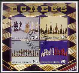 Djibouti 2006 Chess perf sheetlet containing 4 values very fine cto used