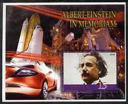 Liberia 2006 Albert Einstein In Memoriam perf m/sheet (with Space Shuttle in background) very fine cto used