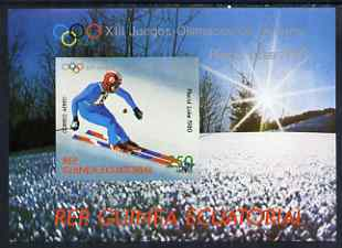 Equatorial Guinea 1980 Winter Olympics (Skiing) perf souvenir sheet unmounted mint