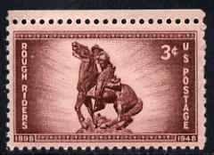 United States 1948 50th Anniversary of Organization of Rough Riders 3c unmounted mint, SG 970