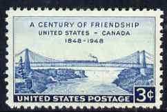 United States 1948 Centenary of Friendship between US & Canada 3c unmounted mint, SG 958
