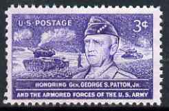 United States 1953 General Patton & US Armed Forces 3c unmounted mint, SG 1023