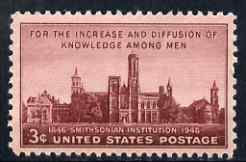 United States 1948 Centenary of Smithsonian Institution 3c unmounted mint, SG 940