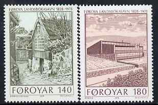 Faroe Islands 1978 National Library perf set of 2 unmounted mint, SG 38-9