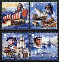 Gibraltar 1999 Maritime Heritage perf set of 4 unmounted mint, SG 872-5