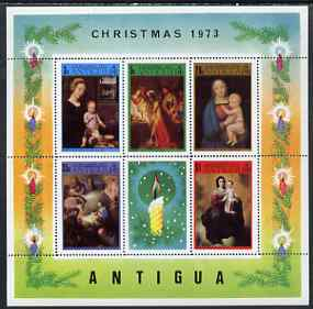 Antigua 1973 Christmas perf m/sheet containing set of 6 unmounted mint, SG MS173