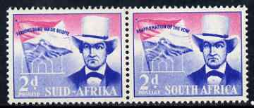 South Africa 1955 Voortrekker Covenant Celebrations 2d horiz pair unmounted mint SG 167