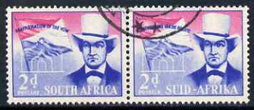 South Africa 1955 Voortrekker Covenant Celebrations 2d horiz pair very fine used SG 167