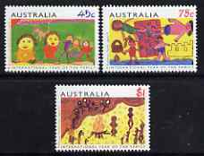 Australia 1994 Int Year of the Family - Children's Art perf set of 3 unmounted mint, SG 1450-52
